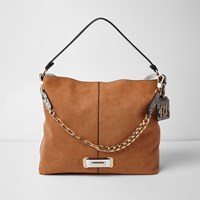River Island Tan Chain Front Slouch Underarm Bag