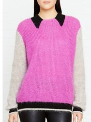 Kenzo Collared Striped Jumper Pink