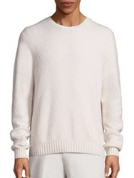 Vince Wool Blend Textured Knit Sweater Pearl