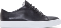 Tiger Of Sweden Black Leather Yngve Low Top Sneakers