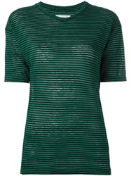 Etoile Isabel Marant Striped T Shirt Green