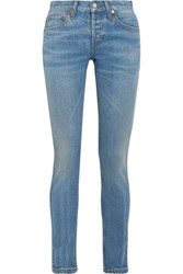 Re Done Low Rise Skinny Jeans Blue