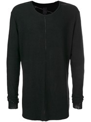 Thom Krom Long Sleeve Fitted Sweater Black
