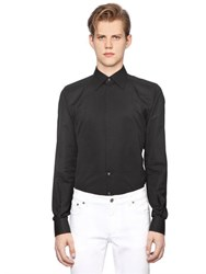 Dolce And Gabbana Gold Fit Cotton Jacquard Tuxedo Shirt