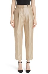 Emporio Armani Metallic Crop Pants Gold