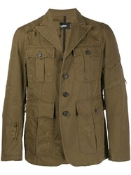 Dsquared2 Military Jacket Green