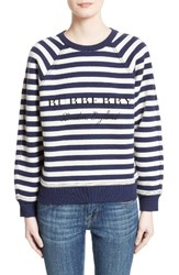 Burberry Women's Selune Stripe Wool And Cashmere Sweater