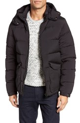 Scotch And Soda Men's Water Repellent Quilted Down Jacket Black