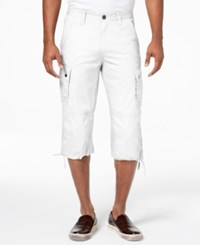 Inc International Concepts I.N.C. Men's Extra Long Messenger Shorts Created For Macy's White Pure