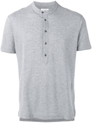 Paolo Pecora Button Detailed Jersey Top Grey