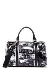L.A.M.B. Gretchen Leather Trim Barrel Satchel Black