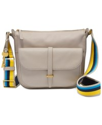 Fossil Ryder Small Crossbody Mineral Gray W Novelty Strap