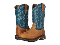 Ariat Workhog Pull On Wp Aged Bark Topaz Women's Work Boots Brown