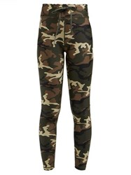 The Upside Camouflage Print Leggings Green Multi