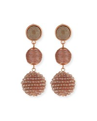Lydell Nyc Beaded Ball Drop Earrings Pink