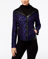 Inc International Concepts Lace Moto Jacket Only At Macy's Goddess Blue