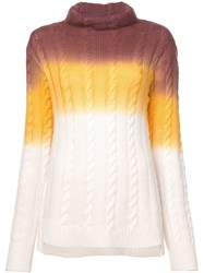 Sies Marjan Colour Block Cable Knit Sweater White