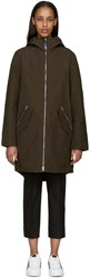 Mackage Khaki Waxed Cotton Sonya Coat