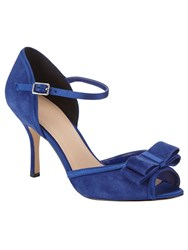 Phase Eight Suzie Suede Peep Toe Shoes Blue