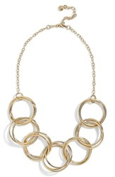 Baublebar Circle Link Statement Necklace Gold
