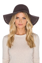 Hat Attack Round Floppy Perforated Edge Hat Charcoal
