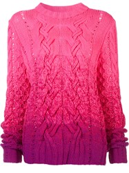 Spencer Vladimir Ombre Jumper Pink Purple