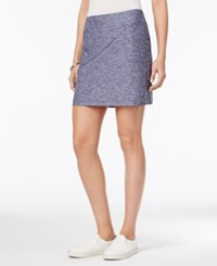 Styleandco. Style Co. Melange Skort Only At Macy's Royal Navy