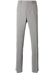 Fendi Gingham Tailored Trousers Blue