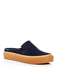 Toms Sunrise Suede Sneaker Mules Navy