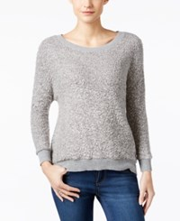 Calvin Klein Jeans Textured Metallic Sweater Silver Gray