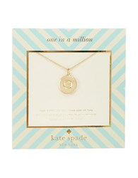 Kate Spade One In A Million Letter O Pendant Necklace Gold