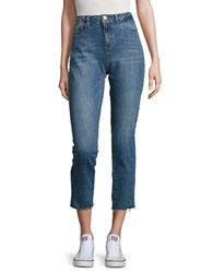 Noisy May Cut Off Denim Capri Jeans Blue