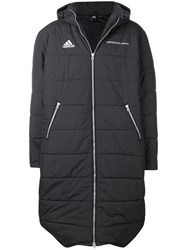 6adec7f0b X Adidas Padded Hooded Maxi Coat Black