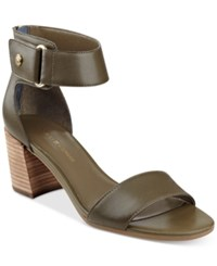 Tommy Hilfiger Charlot Sandals Women's Shoes Olive Green
