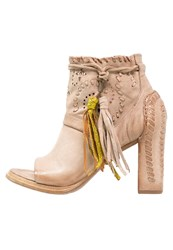 A.S.98 Panda Ankle Boots Grano Beige