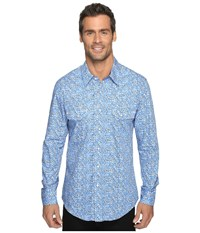 Rock And Roll Cowboy Long Sleeve Snap B2s9074 Blue Men's Long Sleeve Button Up