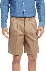 Nordstrom Shop Smartcare Tm Pleated Shorts Taupe