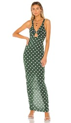 Acacia Swimwear Aruba Dress In Green. Dotty