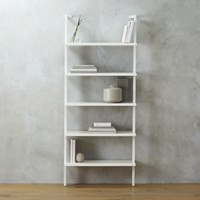 Cb2 Stairway White 72.5'' Wall Mounted Bookcase