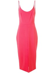 Christian Siriano Fitted Midi Dress Pink
