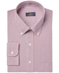 Club Room Estate Wrinkle Resistant Small Grid Check Dress Shirt Only At Macy's