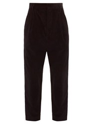 Raey Exaggerated Tapered Leg Corduroy Trousers Black