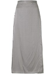 Kacey Devlin Utility Striped Wrap Skirt Multicolour