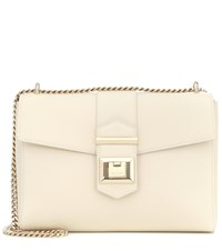 Jimmy Choo Marianne Leather Shoulder Bag White
