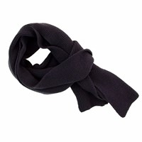 40 Colori Charcoal Solid Wool And Cashmere Scarf Grey