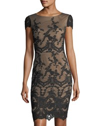 Cynthia Steffe Dina Embroidered Sleeveless Dress Black