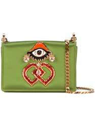 Dsquared2 Dd Clutch Bag Women Cotton Leather One Size Green