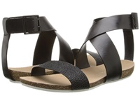 Enzo Angiolini Afuturia Black Black Leather Women's Dress Sandals