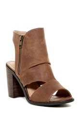 Rebels Angie Cutout Bootie Brown
