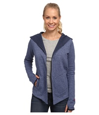 The North Face Harmony Park Wrap Cosmic Blue Heather Women's Long Sleeve Pullover
